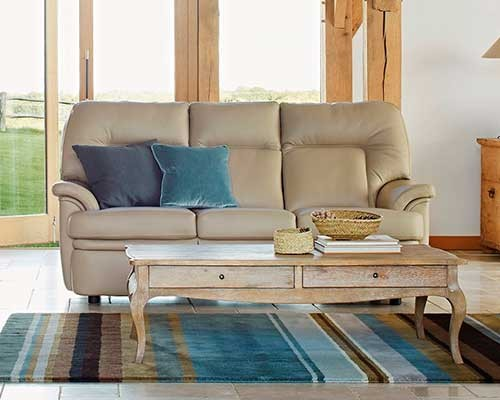 Parker Knoll Seattle 3 Seater Sofa Leather