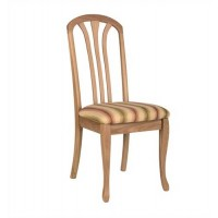 Sutcliffe Harewood Fabric Slatted Back Rounded Top Dining Chair Range