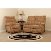Sienna Oak 3 Seater 3 Cushion Back