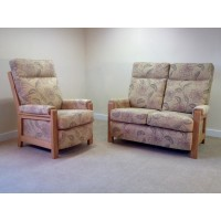 Seattle Oak 2 Seater Sofa