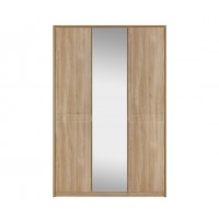 Kingstown Ocean Tall 3 Door Wardrobe with Lights and Mirror
