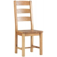 Corndell Lovell Slatted Chair with Wooden Seat Dining Chair