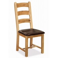 Corndell Winslow Slatted with PU Leather Dining Chair