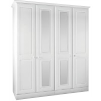 Kingstown Nicole Tall 4 Door/Mirror Wardrobe