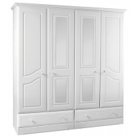 Kingstown Nicole 4 Door/2 Drawer/Mirror Wardrobe