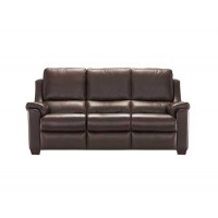 Parker Knoll Albany Manual 3 Seater Recliner Sofa Leather