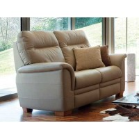 Parker Knoll Hudson Manual 2 Seater Recliner Sofa Leather
