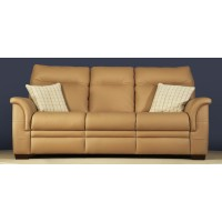 Parker Knoll Hudson Manual 3 Seater Recliner Sofa Leather
