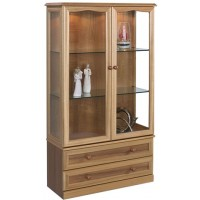 Sutcliffe Trafalgar Display Unit with Lower Drawers and Mirror Back