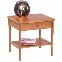 Sutcliffe Trafalgar Lamp Table with Drawer and Lower Shelf