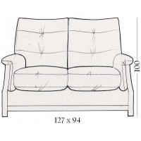 Sienna Oak 2 Seater Sofa
