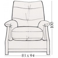 Sienna Oak Electric Recliner Chair