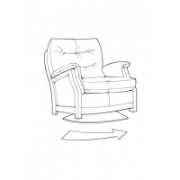 Sienna Oak Swivel Chair