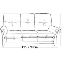 Kelly Beech 3 Seater Sofa (3 or 2 Cushion)