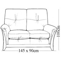 Kelly Beech 2 Seater Sofa