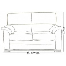Bristol 2 Seater Sofa Bed ( Extends to 225cm)
