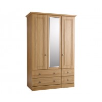 Kingstown Toledo 3 Door/4 Drawer Wardrobe