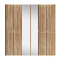 Kingstown Ocean Tall 6 Bifold Door Wardrobe with Lights and Mirror