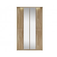 Kingstown Ocean Tall 4 Bifold Door Wardrobe with Lights and Mirror