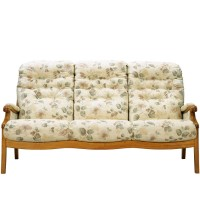 Cintique Winchester Panelled Side 3 Seater Sofa