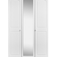 Kingstown Aylesbury 3 Door Centre Mirror Fitment Cornice Wardrobe