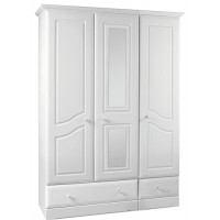 Kingstown Nicole 3 Door Mirror Wardrobe