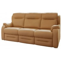 Parker Knoll Boston Manual 3 Seater Recliner Sofa Leather