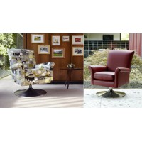 Parker Knoll Bradley Swivel Chair Leather