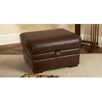 Parker Knoll Lifestyle Storage Footstool Leather