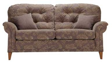Sutcliffe Elipse Fabric Button Back Seater Sofa